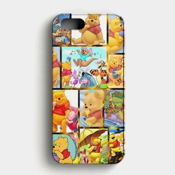 Winnie The Pooh And Friends Pattern iPhone SE Case