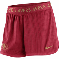 Women's Nike Scarlet San Francisco 49ers Ultimate Mesh Shorts
