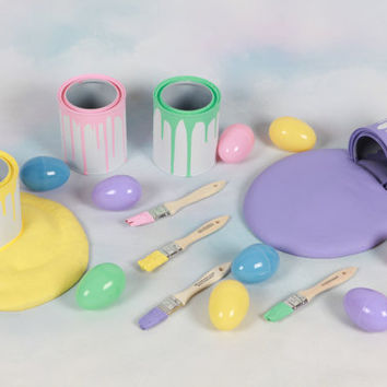 Easter Egg Painting Set   Photo Prop,Photography prop, Egg, Props