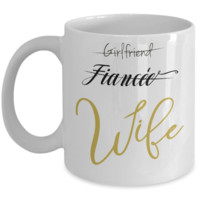First Valentine's Day Newlyweds Wife Coffee Mug