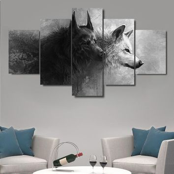 Black and White Wolves Nature