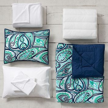 Paisley Perfect Deluxe Comforter Set with Comforter, Sheet Set, Pillowcase, Mattress Pad, Pillow Inserts + Blanket