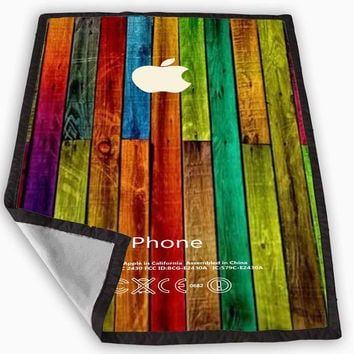 wood wooden iphone case wood iphone Blanket for Kids Blanket, Fleece Blanket Cute and Awesome Blanket for your bedding, Blanket fleece *