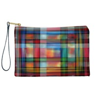 Madart Inc. Multi Abstracts Plaid Pouch