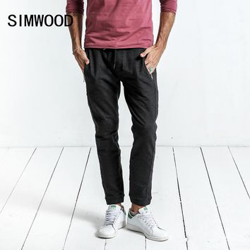 Spring New Casual Pants Men Drawstring Joggers Sweatpants Trousers High Quality Clothing