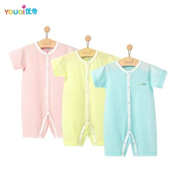 3Pcs Baby Clothes Summer Boy Rompers Cotton Baby Girl Clothes Short Sleeve Baby Clothing Jumpsuit Brand Costume Infant Pajamas