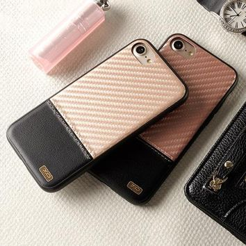 Contrast Carbon Fiber iPhone Case