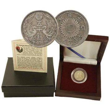 Imperial Japan: Box of Silver Japanese Coin