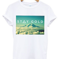 Stay Gold Mountains T Shirt Cloud Swag Apparel High Swag Tumblr Dope Hipster