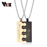 fashion lock couple necklace & pendants for men / women stainless steel wedding jewelry