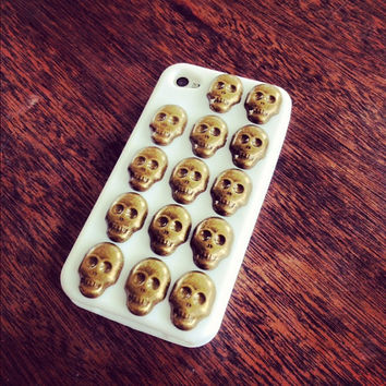 Skull iPhone Case by BrackeyBacks on Etsy