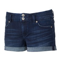 Candie's High-Waisted Denim Shortie Shorts - Juniors, Size: