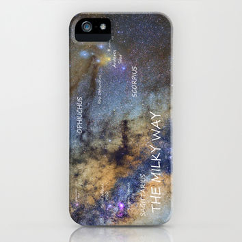 Star map version: The Milky Way and constellations Scorpius, Sagittarius and the star Antares. iPhone & iPod Case by Guido Montañés