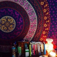 Mandala Wall Tapestry Home Tapestry Hippie Bohemian Boho Bedroom Bedding