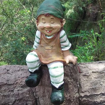 fairy Garden Dwarf Gnome Statue Figurines Lawn Yard Art Ornament home decor/crafts/bonsai/doll house