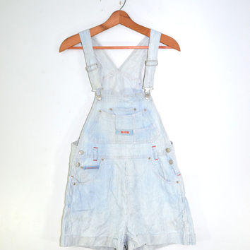 Denim Short Overalls Bib Overalls 80s Squeeze Jeans Overalls Denim Shorts Striped Overalls Pin Stripe Bib Overalls Shortalls Size Medium