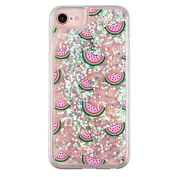 Watermelon Glitter iPhone Case