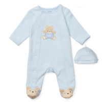 Monkey Footie | Baby Boys Clothing | Little Me Boutique