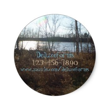 Cloudy Sunset Classic Round Sticker