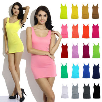 New Solid Slim Women tank Tops  Summer Sleeveless Jersey Cotton Tanks Camis Tees For Woman Fashion Sexy Top White Black Vest