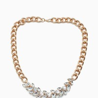 RS Cluster accented Lux Chain Choker necklace
