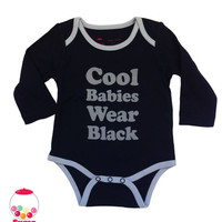 SALE Cool babies wear black baby Onesuit by SugarBabyLove on Etsy