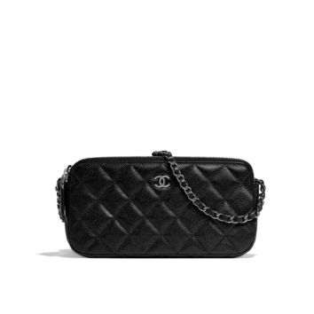 CHANEL Fashion - Classic clutch with chain