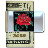Large Money Clip - Rose