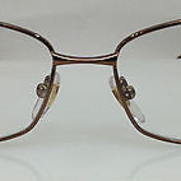 NEW AUTHENTIC YVES SAINT LAURENT YSL 6314 COL UUX BROWN METAL EYEGLASSES FRAME S