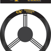 NCAA Georgia Tech Yellow Jackets Poly-Suede Steering Wheel Cover