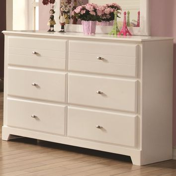Quintessential Dresser with Six Drawers, White