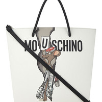 MOSCHINO Cartoon rodent-print tote