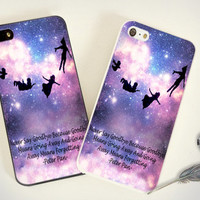 iPhone Case - Iphone 4 Case - iPhone 4s Case - iPhone 5 case - Peter Pan quotes Love Pretty - print on hard plastic