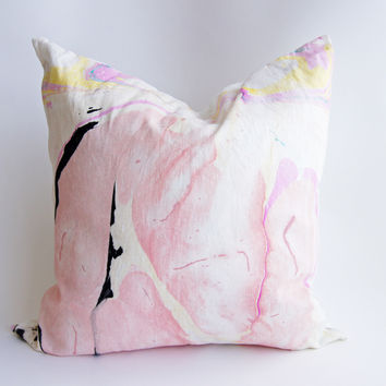 "24"" Hand Inked Pillow, Sweet Dreams"