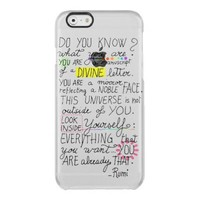 calligraphy inspiring spiritual quote by Rumi Clear iPhone 6/6S Case