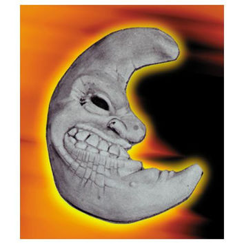 Halloween Prop: Plaque Moon Face