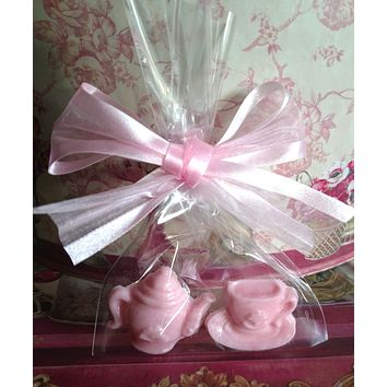 Teapot and Teacup Soap Favors Set of 8