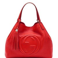 LMFIX5 Gucci Women's s Fashion Red Leather Handbag