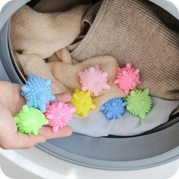 4pcs Decontamination Laundry Ball Anti-Winding Washing Ball Dryer Balls Keeping Laundry Fresh Drying Fabric Softener