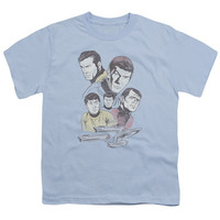 STAR TREK/RETRO CREW - S/S YOUTH 18/1 - LIGHT BLUE -