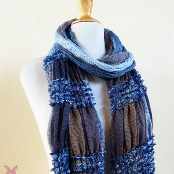 Scarf - ROCKSTYLE MULTI VI - Luxury textured long chunky scarf - unisex accessories