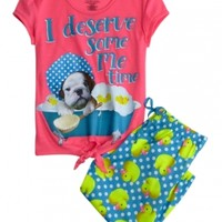 Bath Tub Dog Capri Pajama Set