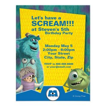 Monsters, Inc. Birthday Invitation from Zazzle.com
