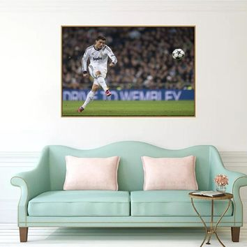 RELIABLI ART Soccer Player Cristiano Ronaldo Portrait Painting Canvas Art Poster Print Football Pictures Home Decoration Unframe