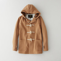 Wool Hooded Toggle Coat