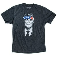 Rambo Reagan Vintage Tee in Charcoal by Rowdy Gentleman - FINAL SALE