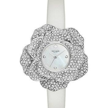 crystal rose leather watch