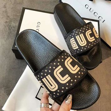 GUCCI Women Fashion Slipper Shoes