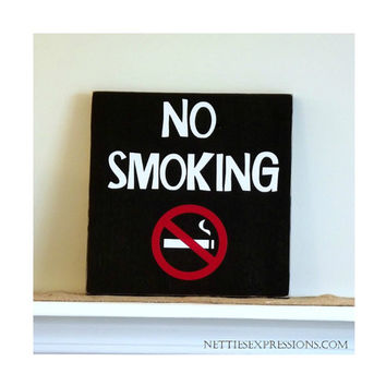 No Smoking – Rustic Wood Sign