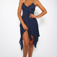 Genova Dress - Navy